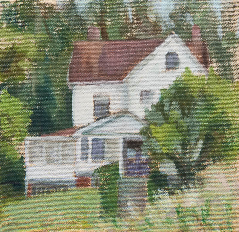 Presidio House Study.  Oil on canvas, 6 x 6 inches, May 2013