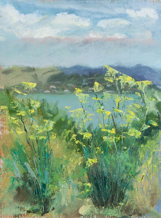 Wild Fennel of Sausalito.  Oil on canvas, 8 x 6 inches, August 2013.