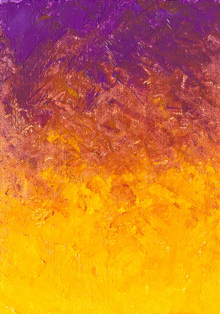 Cobalt Violet vs Yellow Lake Deep. Oil on canvas, 7 x 5 inches, November 2013.