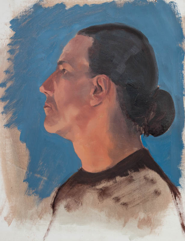 Miguel Profile Study. Oil on canvas, 16 x 12 inches, January 2014.