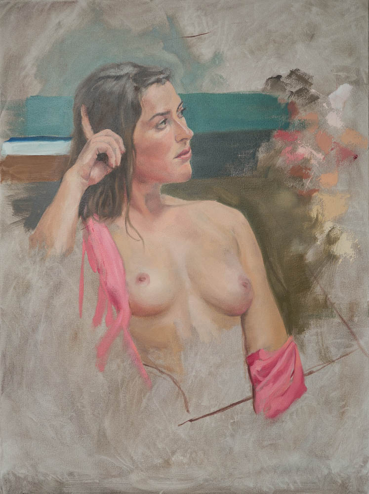Nude Study.  24 x 18 inches, oil on canvas,  March 2014.