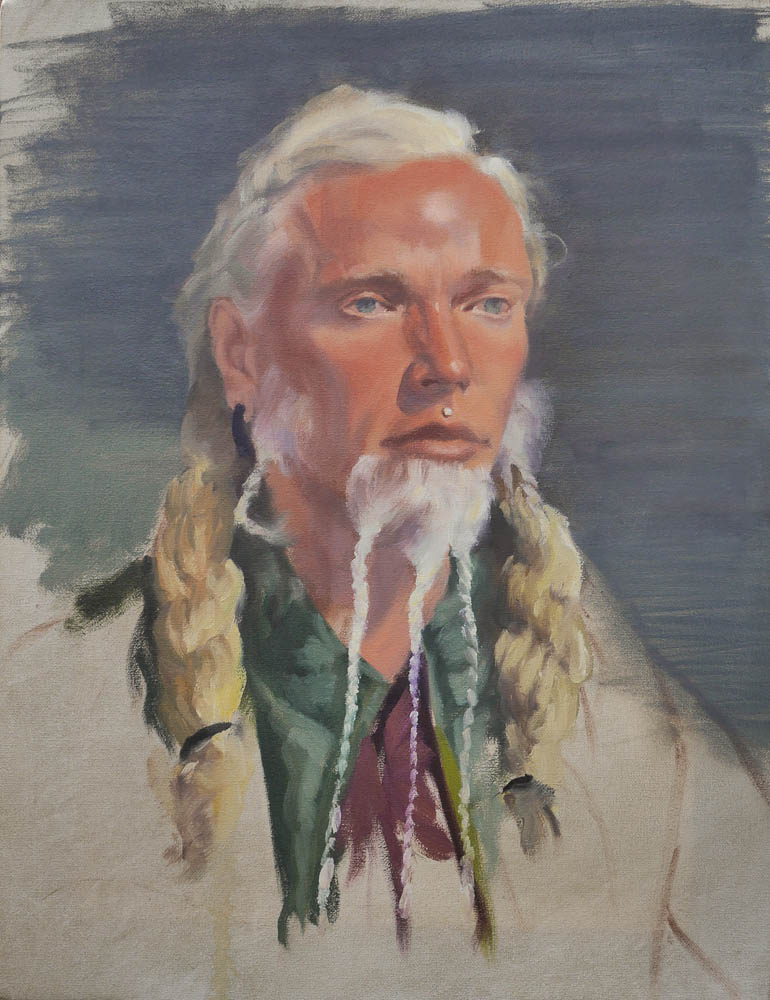 Kirk.  Oil on canvas, 18 x 14 inches, April 2014.