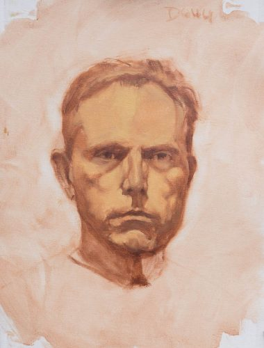 Portrait Study of Doug.  Oil on canvas, 16 x 12 inches, September 2014.