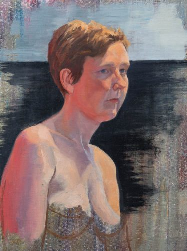 Study of flesh color. Oil on canvas, 16 x 12 inches, 2015.