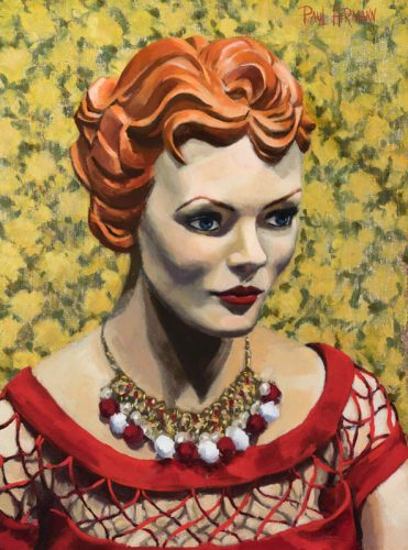 Mannequin#2 from Tatyana on Haight Street. Oil on canvas, 16 x12 inches, 2015. By Paul Hermann.