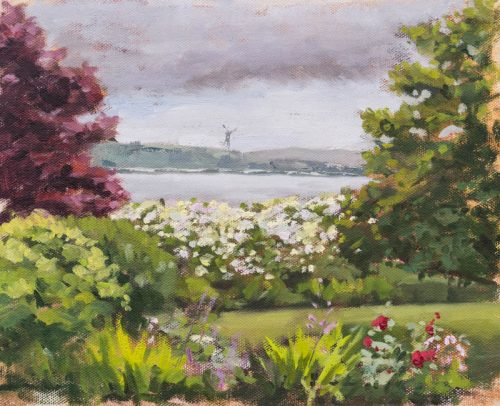 view from Cobh in Ireland. Oil on canvas, 8 x 10 inches, July 2015