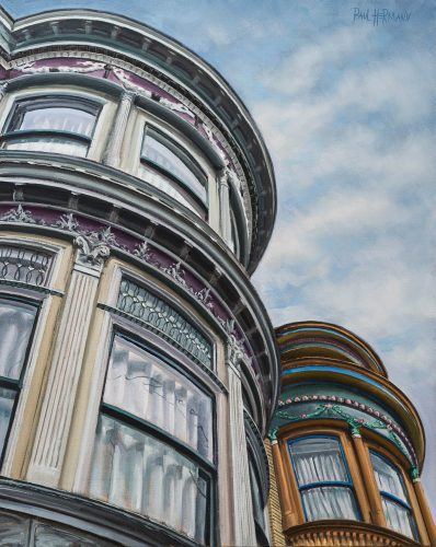 Central Ave between Page and Haight St. Oil on canvas, 30 x 24 inches, 2016.