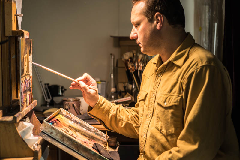 photo of Paul Hermann painting