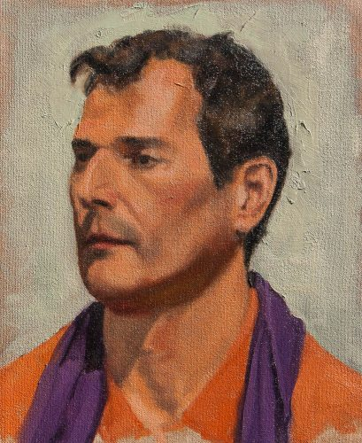 Portrait of Miguel. Oil on canvas, 20 x 16 inches, January 2012. By Paul Hermann.