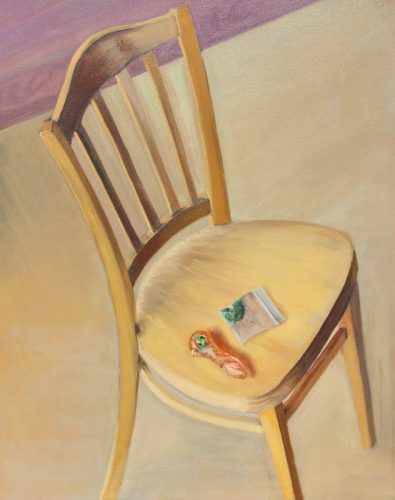 "Homage to ""Van Gogh's Chair"" California style. Oil on canvas, 30 x24 inches, March 2011. By Paul Hermann."