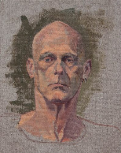 Human Still Life Portrait Study. Oil on Canvas, 14 x 11 inches, June 2012. By Paul Hermann.