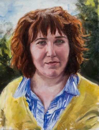 Rosie. Oil on Canvas, 16 x 12 inches, July 1012.  By Paul Hermann.